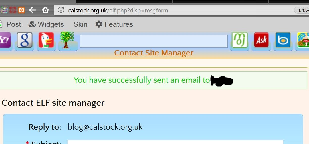 Change recipient name on contact message confirmation
