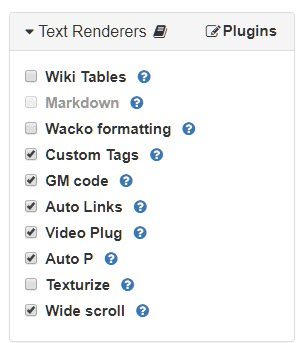 Text Renderer widget