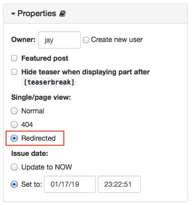 Version 7.0.0 : Redirected