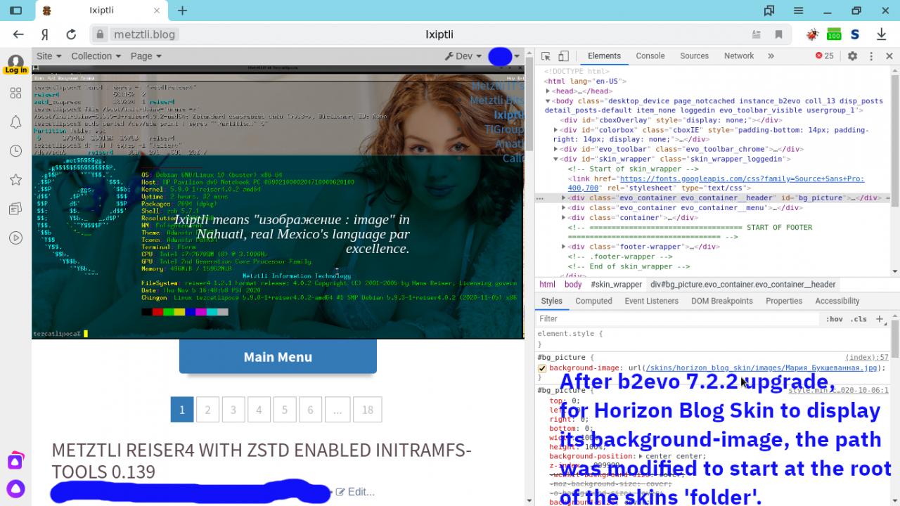 Horizon blog skin needs fqp after b2evo 7.2.2 upgrade
